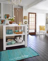 diy white wood cottage kitchen island fox hollow cottage