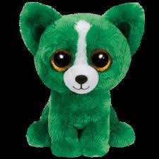 ty toys ty beanie boo dill green dog 6