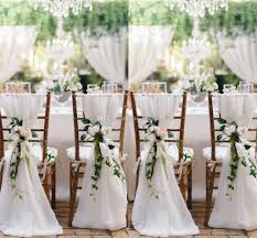 cheap chair sashes 2018 white chair sashes for weddings 30d chiffon 200 65 cm wedding