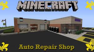 Garage Shop Designs Minecraft Auto Repair Shop Suburbcraft Ep 72 Youtube