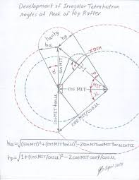 Hip Roof Design Calculator by Roof Framing Geometry Trirectangular Tetrahedron Study Joe Bartok