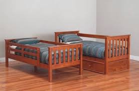 Fort KINGSINGLE Timber Bunk Bed Cabin WithWithout Trundle Kids - Timber bunk bed