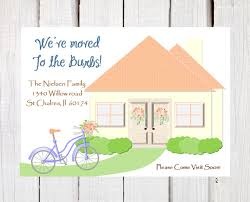 new home moving announcement moving to the burbs new address