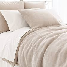 linen chenille natural duvet cover pine cone hill