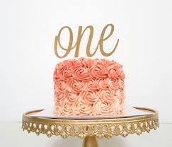 gold cake topper one cake topper birthday cake topper one year cake