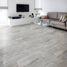 B And Q Flooring Laminate Nordico Grey Vintage Porcelain Floor Tile Pack Of 8 L 618mm W