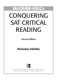 preview conquering sat critical reading by tusachduhoc issuu