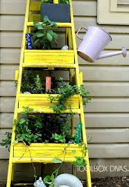 How To Make Planters by How To Make A Ladder Planter Hometalk