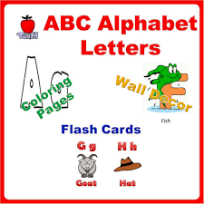 abc alphabet letters flash card coloring book wall decor