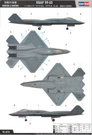 northrop yf 23 black widow ii camouflage color profile and paint guide