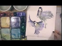 watercolor tutorial chickadee watercolor demonstration 15 minute chickadee in winter youtube