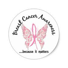 breast cancer butterfly 7 sticker zazzle com