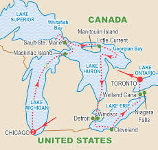 Map Of Michigan Lakes Great Lakes Grand Discovery September 2017 Craig Travel