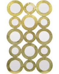 DEAL ALERT Three Hands Gold Metal framed Mirror Circle Clusters