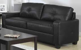 sofa in black bonded leather match 502721 by coaster
