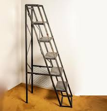 restoration hardware metal ladder bookshelf ebth