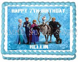 Edible Cake Decorating Paper Aliexpress Com Buy Elsa Anna Olaf Edible Cake Topper Wafer Rice
