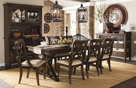 9 piece dining set with x back chairs by legacy classic wolf and