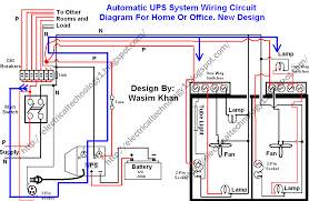 automatic ups system wiring circuit diagram homeoffice in wiring