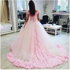 beautiful quinceanera dresses wd2547 flowers pink wedding dresses cinderella bridal gowns