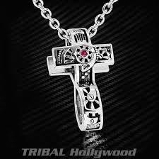 ecks 2 in 1 infinity symbol clockworks cross mens necklace