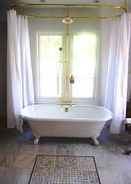 Clawfoot Tub Shower Curtain Liner Diy Clawfoot Tub Shower Curtain Rod Dtavares
