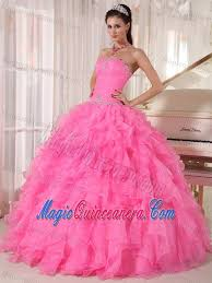 dresses for sweet 15 beading and ruffles accent sweet 15 dresses in hot pink on sale