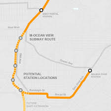 Bart San Francisco Map Stations 19th Avenue Subway Study Work Is Moving Forward U2013 Muniverse