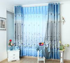 blue livingroom blue curtains living room christmas lights decoration