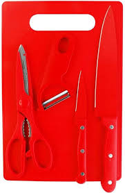 buy shrih red chopping board with stainless steel kitchen knife