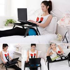 Cooling Laptop Desk by Amazon Com Homdox Laptop Desk Stand Portable Folding With