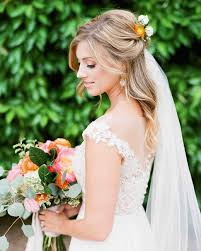 28 half up half down wedding hairstyles we love martha stewart