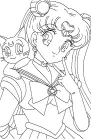 free sailor moon coloring pages kids coloringstar