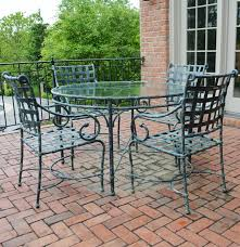 Brown Jordan Patio Chairs Brown Jordan Green Patina Patio Table And Four Chairs Ebth