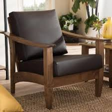 baxton studio pierce contemporary dark brown faux leather