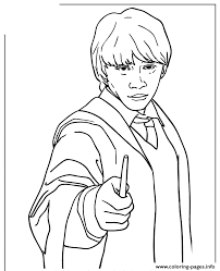 ronald weasley harry potter series coloring pages printable