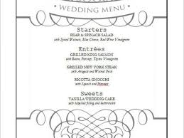 menu template wedding free menu template word expin franklinfire co