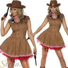 Cowboy Indian Halloween Costumes Adults Ladies Wild West Cowgirl Cowboy Western Fancy Dress Costume