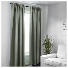 Ikea Window Treatments by Vilborg Curtains 1 Pair Green 145x250 Cm Bedrooms And House