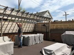 Backyard Grill Chicago Il by Garage Roof Deck Renovation Lakeview Chicago Il Urban