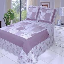 Patchwork Duvet Sets Chic Shabby Purple Plum Patchwork Quilt Coverlet Set Luxury