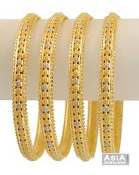 gold bangle bracelet sets images 21k twotone bangles 4 pcs ajba54452 21k gold bangles set of jpg