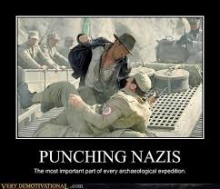 Nazi Meme - punching nazis very demotivational demotivational posters