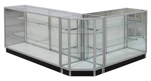 glass counter display cabinet beauty supply store shelving and fixtures