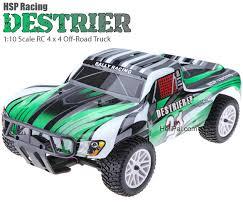 hsp destrier rally monster 1 10 green u0026 grey helipal