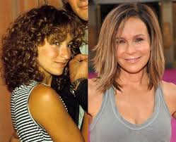perm for grey hair jennifer grey s curly hair versus straight hair celebrities hair