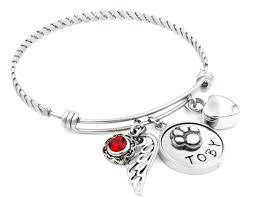 personalized bangle bracelets dog memorial bangle bracelet with urn custom pet engraved name