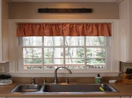 Curtains For Kitchen Window Above Sink Kitchen Window Size Over Sink