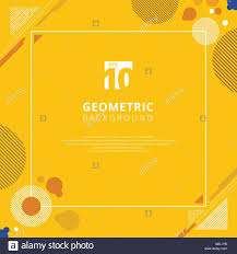 yellow mustard color abstract brown circle geometric pattern design on yellow mustard