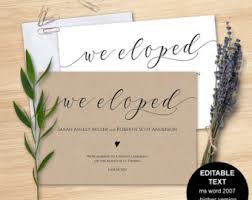 elopement announcements printable elopement announcement card we eloped retro